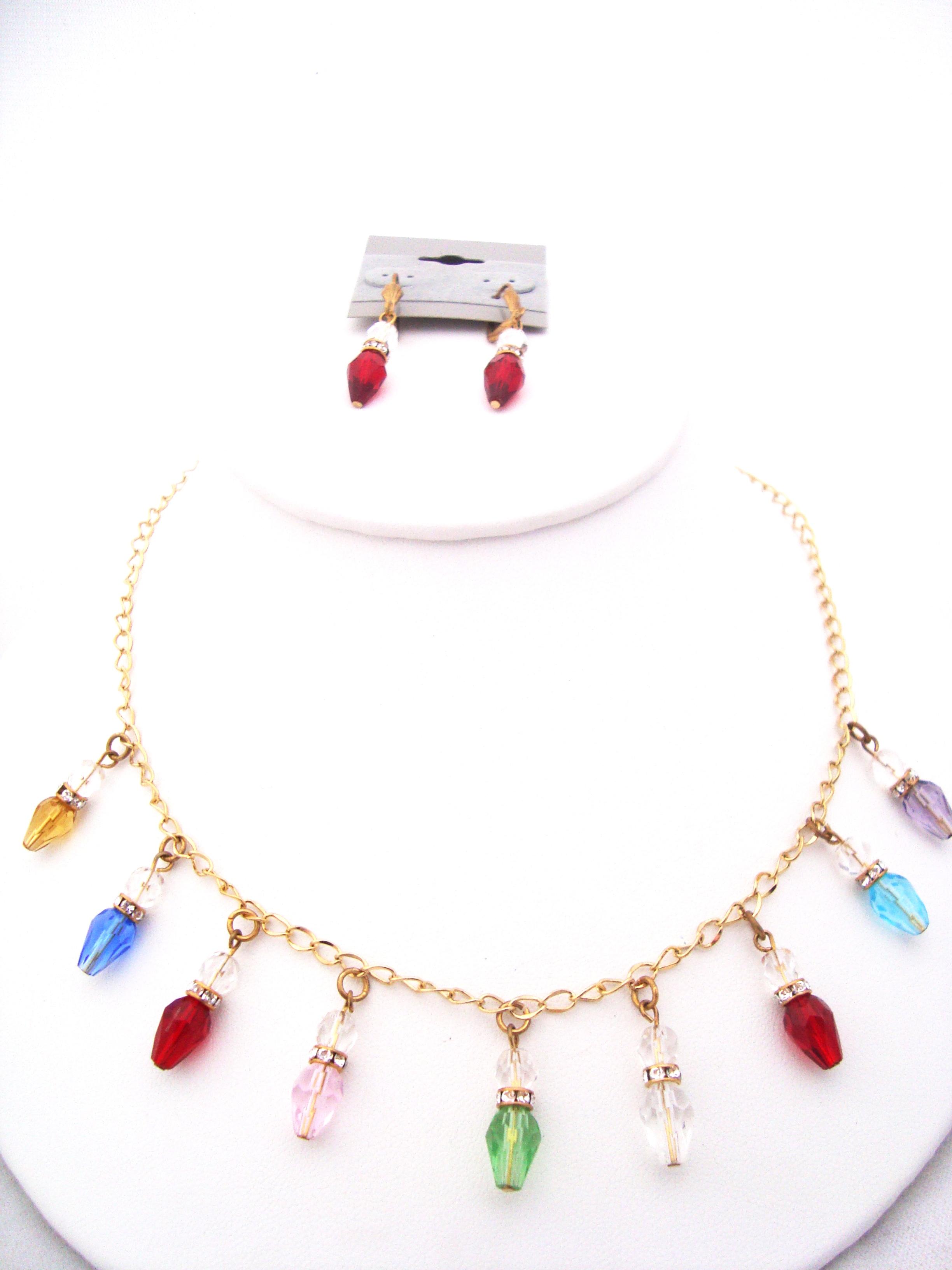 christmas light bub necklace set