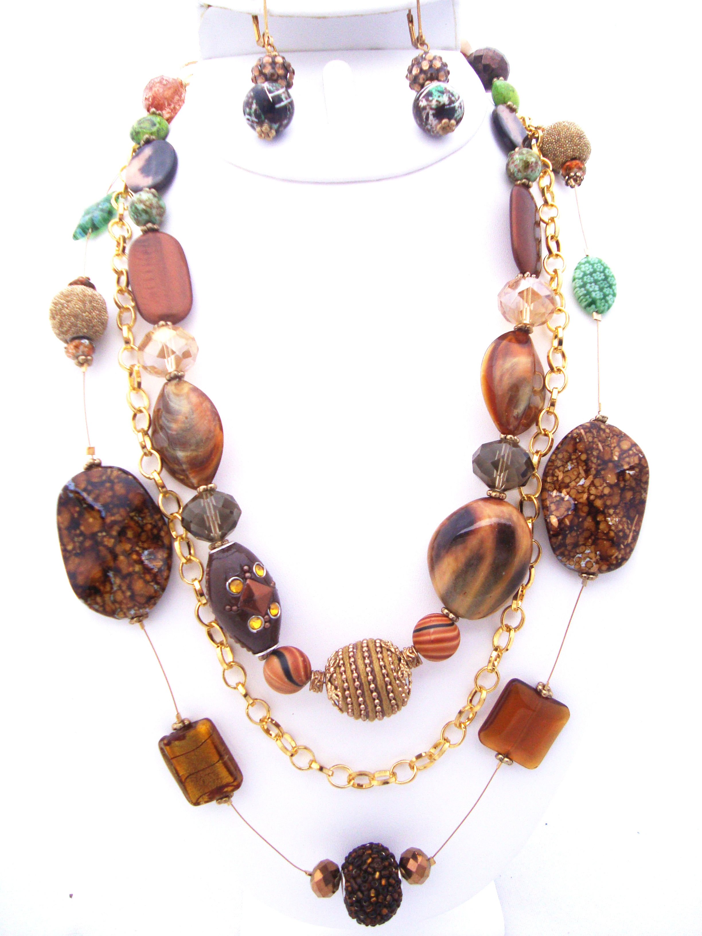 Multi-Strand Beaded Necklace Set